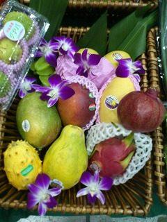 トロピカルフルーツも多種揃っています。  ・マンゴー ・パパイヤ ・ドラゴンフルーツ ・スターフルーツ ・キワノ