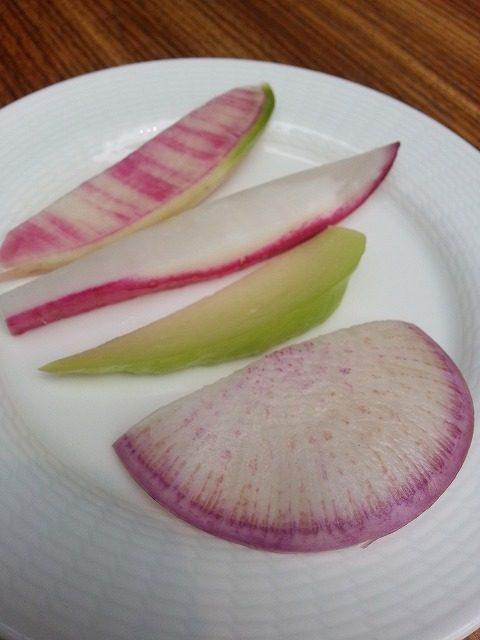 紅芯大根 レディー大根(赤大根) 青大根 紅しぐれ大根 業務用野菜のベジクル